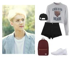 chicago  sehun by dropletsofkaisoo on Polyvore featuring polyvore fashion style Tee and Cake NIKE Herschel Supply Co. nature republic clothing