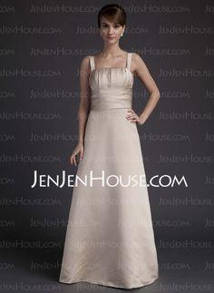 Bridesmaid Dresses - $101.99 - Sheath Strapless Floor-Length Satin Bridesmaid Dresses With Ruffle (007001907) http://jenjenhouse.com/Sheath-Strapless-Floor-length-Satin-Bridesmaid-Dresses-With-Ruffle-007001907-g1907