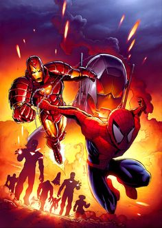 Spider-Man & Iron Man vs. Ultron - Andie Tong