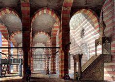 Complex of Sultan Faraj ibn Barquq , Cairo 1818 By Pascal Xavier Coste - French, 1787-1879