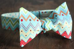 Bow Tie-Multi-Color Chevron
