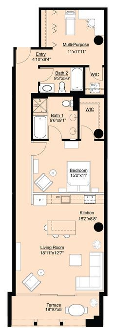 chicago lofts and condos  comparing similarly priced loft and shotgun house floor plans  Chicago lofts and condos: Comparing similarly price...