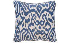 Blue Luce Ikat Pillow, Madeline Weinrib