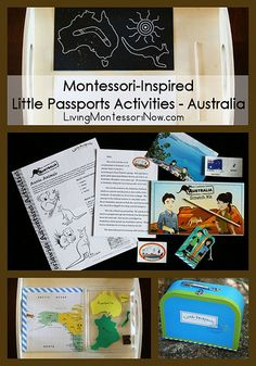 Montessori-inspired ideas for using the Little Passports Australia package for preschoolers as well as ages 5-10. Also includes extension activities appropriate for any study of Australia for preschoolers through grade 1.