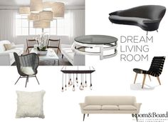 """""""Room & Board Dream Living Room Contest Entry"""" by marine-laverriere on Polyvore"""
