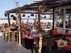 My favourite beach club in Scheveningen (NL), the Zanzibar Beach Club. Love the African vibe ;)