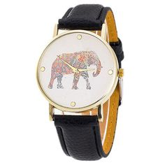 Fabulous women watches Elephant Print Pattern Weaved Leather Quartz Watch women wristwatch