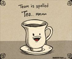 Puns are tea-riffic, aren't they? Grab a cup of your favorite tea blend, and think up some of your own clever tea puns. Vintage Tea, Tea Quotes Funny, Cup Of Tea Quotes, Funny Sayings, Chai, Tee Kunst, Wine Puns, Party Quotes, Tea And Books