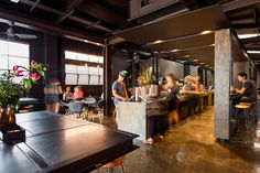 Code Black Coffee: Two Melbourne Warehouses Merge to Create Industrial Chic Cafe and Roastery Coffee Shop Interior Design, Interior Design Awards, Retail Interior, Design Blog, Cafe Design, Store Design, Cafe Restaurant, Restaurant Design, Restaurant Interiors