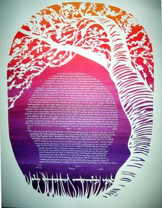 Cherry Tree Ketubah by jerise on Etsy, $475.00