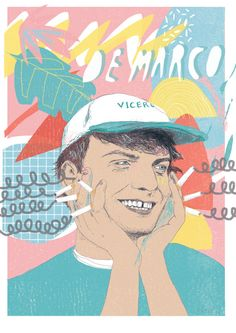 mac demarco enjoying some salady vibes and multiple viceroy cigarettes. A4 digital print onto bread and butter paper (270gsm). colours look a