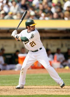 Andy LaRoche Mlb Players, Oakland Athletics, Green And Gold, Golf Clubs, Athlete, Baseball Cards, Sports, Hs Sports, Sport