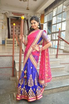 Indian Dresses, Indian Outfits, Indian Actress Images, Actress Photos, Beautiful Girl Image, Half Saree, Beauty Full Girl, India Beauty, Indian Girls