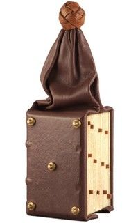 Model of a medieval girdle book.  Only 20 or so girdle books are known to survive today.
