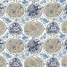 Katsugi Blues Fabric 2620933 by Schumacher Wallpaper Textiles, Textile Patterns, Print Patterns, Paper Patterns, Fun Patterns, Fabric Decor, Fabric Design, Pattern Design, Shape Design