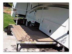 rv decks | Sliding King Deck on the 2003 Royalite fifth wheel by King of the Road ...