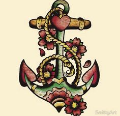 """Anchor"" Old School Tattoo Design. @staceylangner"