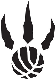 Toronto Raptors Alternate Logo - A black raptor paw print with basketball seams.