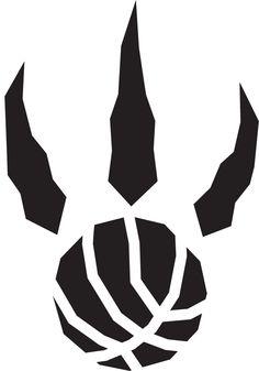 Toronto Raptors Alternate Logo - A black raptor paw print with basketball seams.