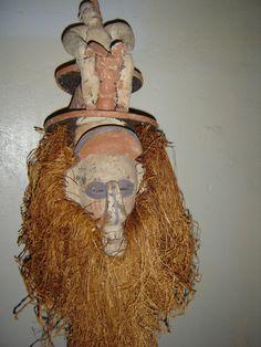Africa KHOLUKA initiation mask - YAKA - DR Congo