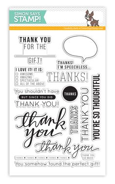great thank you stamp set from Kristina Werner at Simon Says Stamp