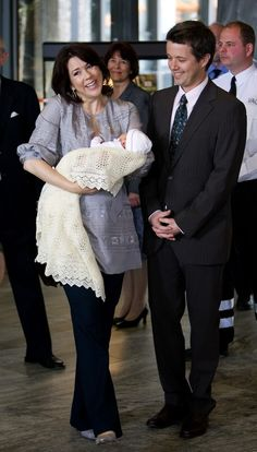 Crown Prince Frederik and Crown Princess Mary with new Princess Isabella