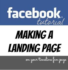 Under the Golden Apple Tree: Making a Facebook Landing Page