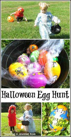 Halloween egg hunt fun Halloween games