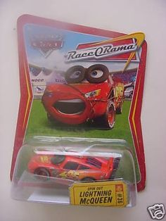 Disney Pixar Cars Race-orama Spin Out Lightning Mcqueen [Toy] [Toy] [Toy] [Toy] by Mattel. $19.99. Disney Pixar Cars RaceoRama Spin Out Lightning McQueen. These diecast cars are smokin' hot!Collect your favorites from the cast of CARS with these approximately 1:55 scale die-cast action-sized vehicles! Collectors are scooping these up and some are getting very hard to find! Lock in now!