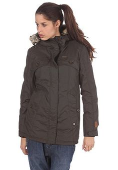 RAGWEAR Womens Technical Nofx Jacket black olive planetsports