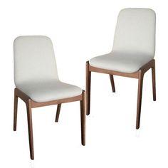 Set of 2 - Libra Dining Chair - White Milan Direct