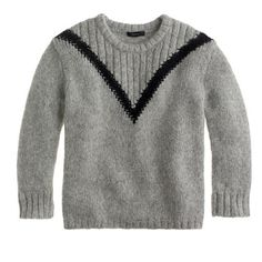 "Ribbed ""V"" sweater"