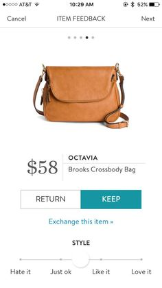 Love this style of bag but like it in a darker brown
