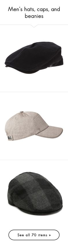 """""""Men's hats, caps, and beanies"""" by keri-cruz ❤ liked on Polyvore featuring mens, men's accessories, men's hats, accessories, hats, cotton hat, embroidered caps, caps hats, embroidered hats and cotton cap"""