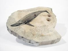 Driftwood pen holder. Blue whale. Coaster. Desk by Railis on Etsy, $22.00