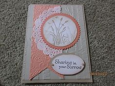 Sympathy Handmade Greeting Card Wheat - using Stampin Up products