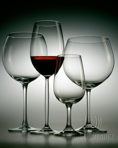 Glasses of wine. Shot done with Cambo 5X4