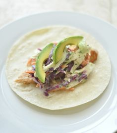Fish tacos with lime cilantro slaw