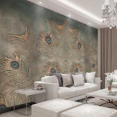 HD modern custom photo wallpaper abstract home background wall mural gold watercolor forest wallpaper for living room bedroom - AliExpress Design Living Room Wallpaper, Wallpaper Designs For Walls, Wall Painting Living Room, Home Wallpaper, Custom Wallpaper, Forest Wallpaper, Wall Paper For Bedroom, Fabric Wallpaper, Peacock Wallpaper