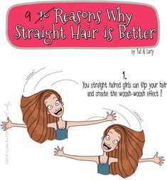 9 Reasons Straight Hair Is Better