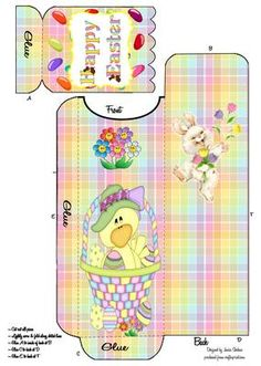 EASTER CHICK CUTLERY WRAP HOLDER 2 on Craftsuprint - Add To Basket!