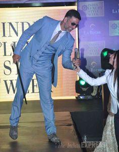 Akshay Kumar walking the ramp at The India Luxury Style Week 2015. #Bollywood #Fashion #Style #Handsome