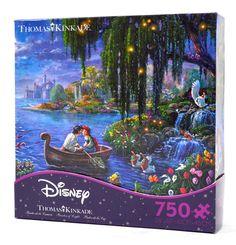 disney thomas kinkade little mermaid ariel eric 750 pieces puzzle new with box