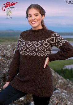 Sweet sweater made with Icelandic wool.