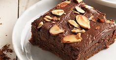 ALMOND AMARETTO BROWNIES Rich, dense almond-flavored fudge brownies.