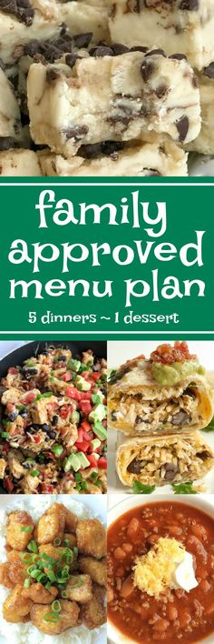 Family Approved Menu Plan Family Meal Planning, Menu Planning, Family Meals, Weekly Dinner Menu, Dinner On A Budget, Dinner Ideas, Weekly Meals, Meal Ideas, Easy Weeknight Dinners