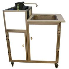 MONSAM White Single-Basin Stainless Steel Portable Sink