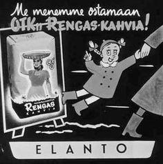 Mainos: Elanto, OTK-rengaskahvia, 60-luku