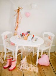 A Valentine-Making Party for Kids | Style Me Pretty