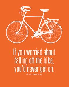 Lance Armstrong Quote on riding a bicycle | Flickr - Photo Sharing! #Doridu